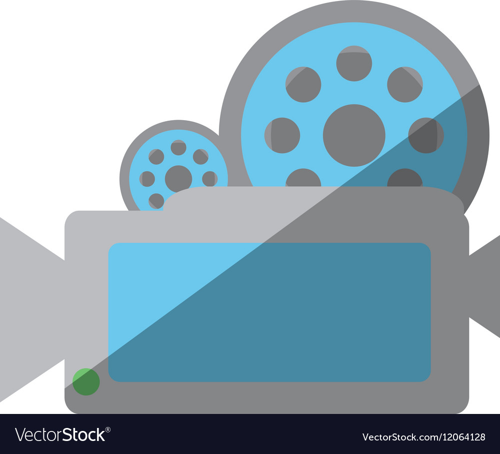 Camera film record movie shadow vector image
