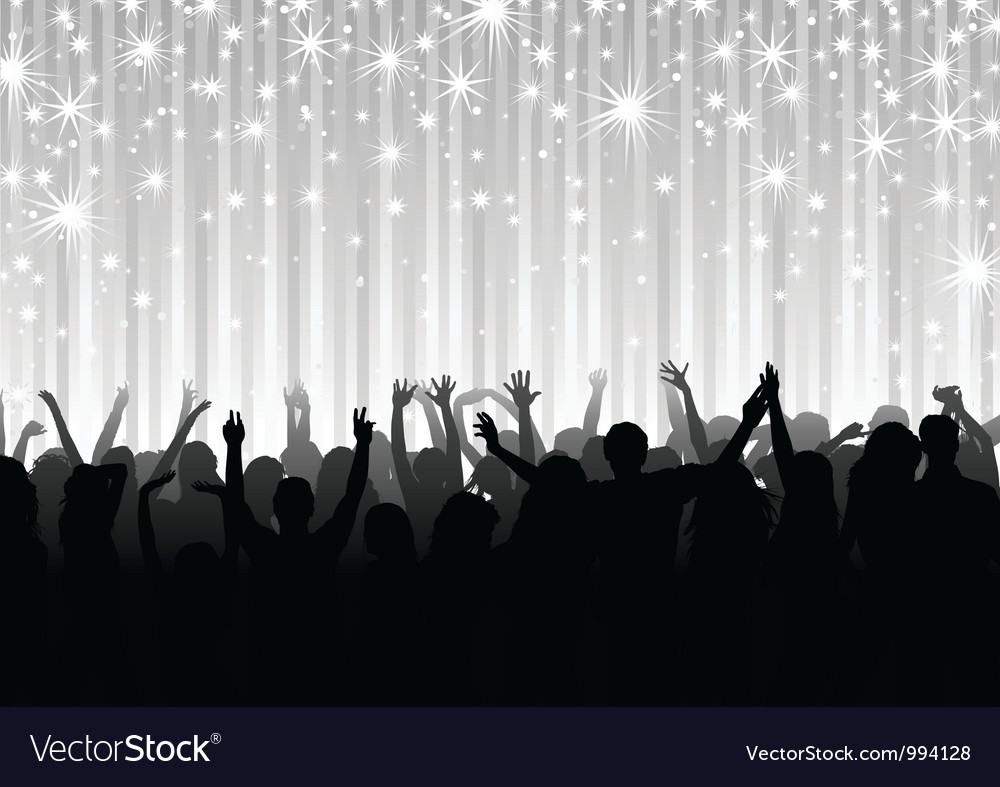 Crowd on the Party vector image