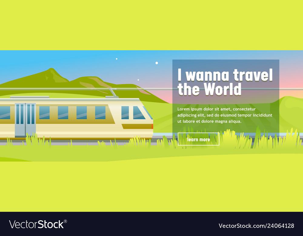 Modern highspeed train rides in stylish mountain