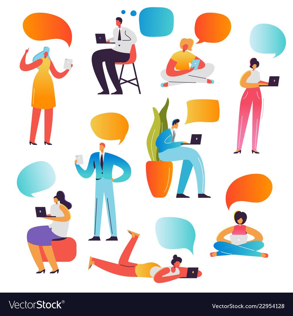 Social media concept chatting in social networks