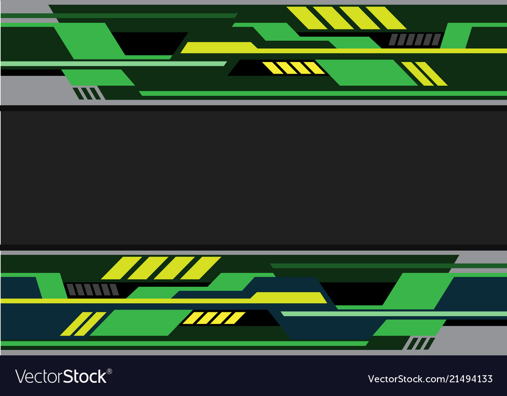 Abstract green black yellow futuristic technology