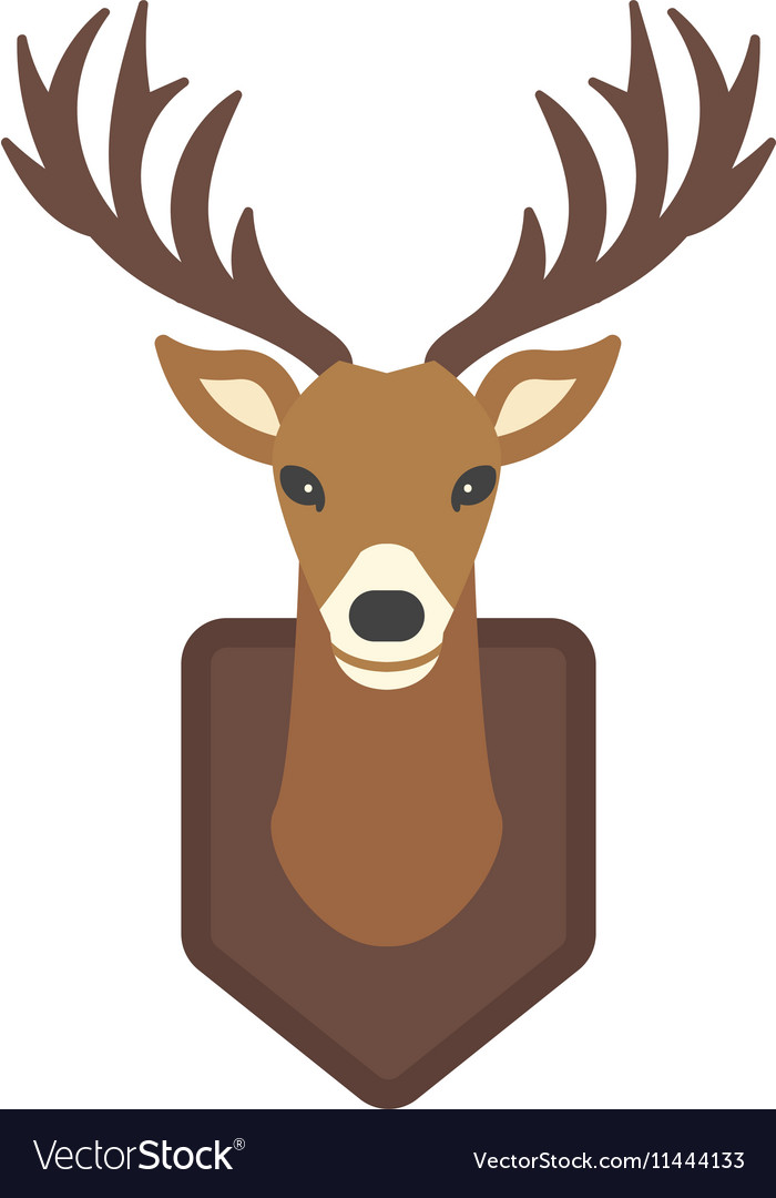 cartoon deer head animal royalty free vector image rh vectorstock com cartoon deer head step by step cartoon deer head outline