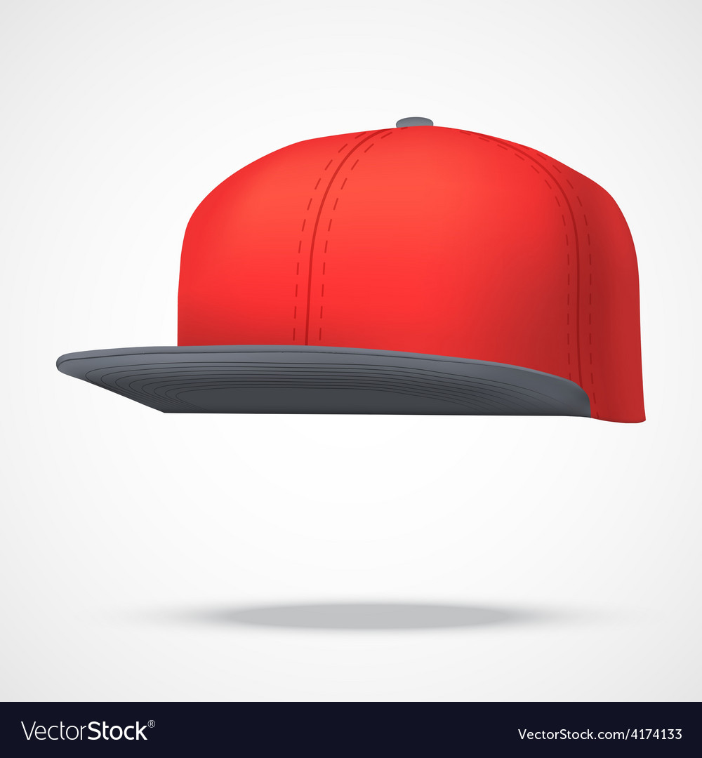 Layout of Male color rap cap vector image
