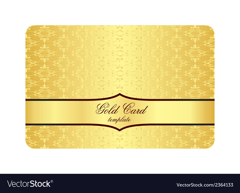 Luxury Golden Card with Inscribed Vintage Pattern vector image