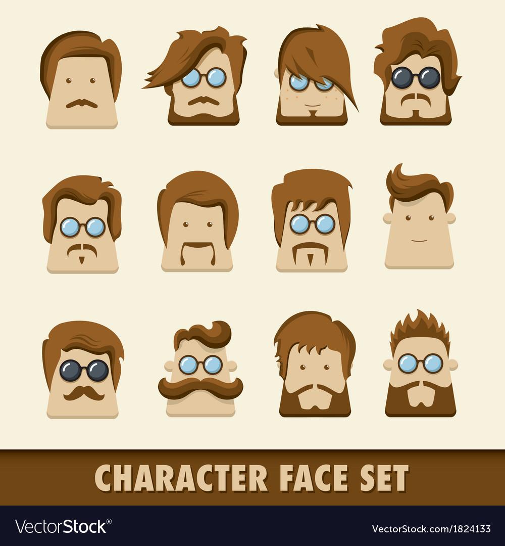Men character icon set
