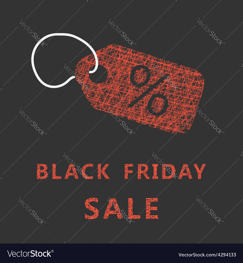 Sketch typography black friday sale with label