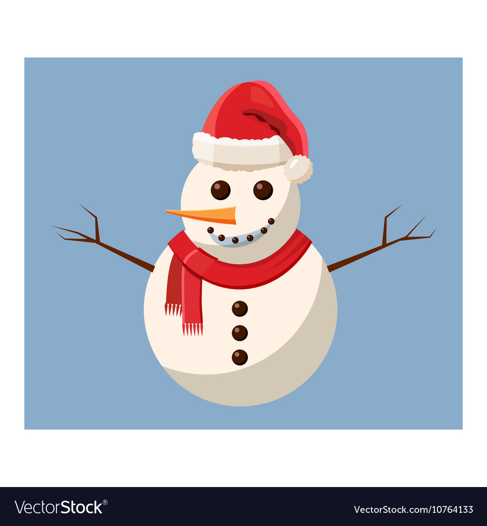 Snowman icon cartoon style