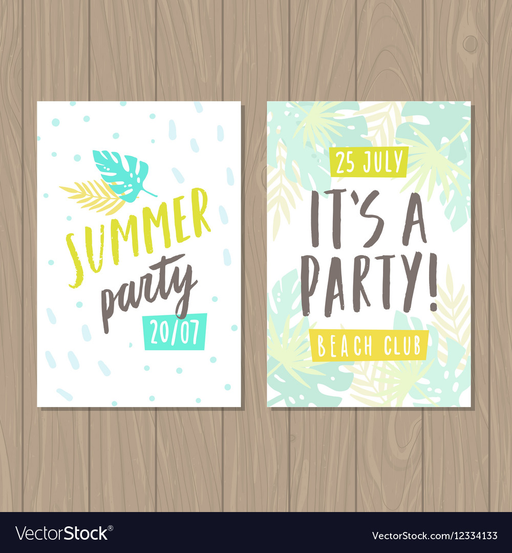 Summer party Two flyer or posters templates
