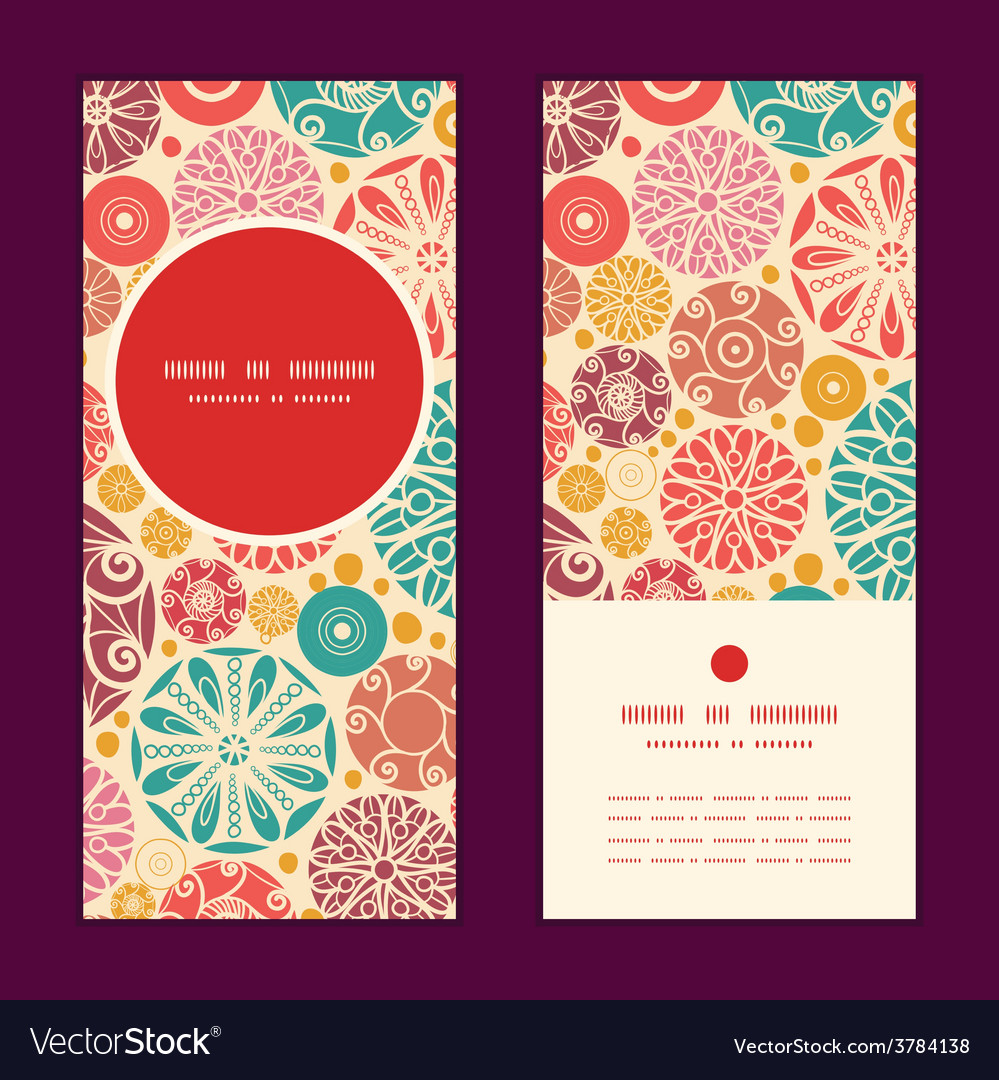 Abstract decorative circles vertical round