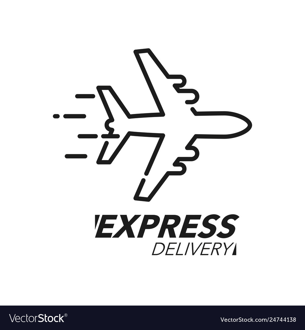 Express delivery icon concept plane speed icon