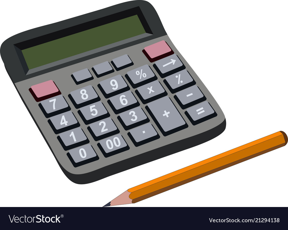 finance budget calculation with pencil royalty free vector