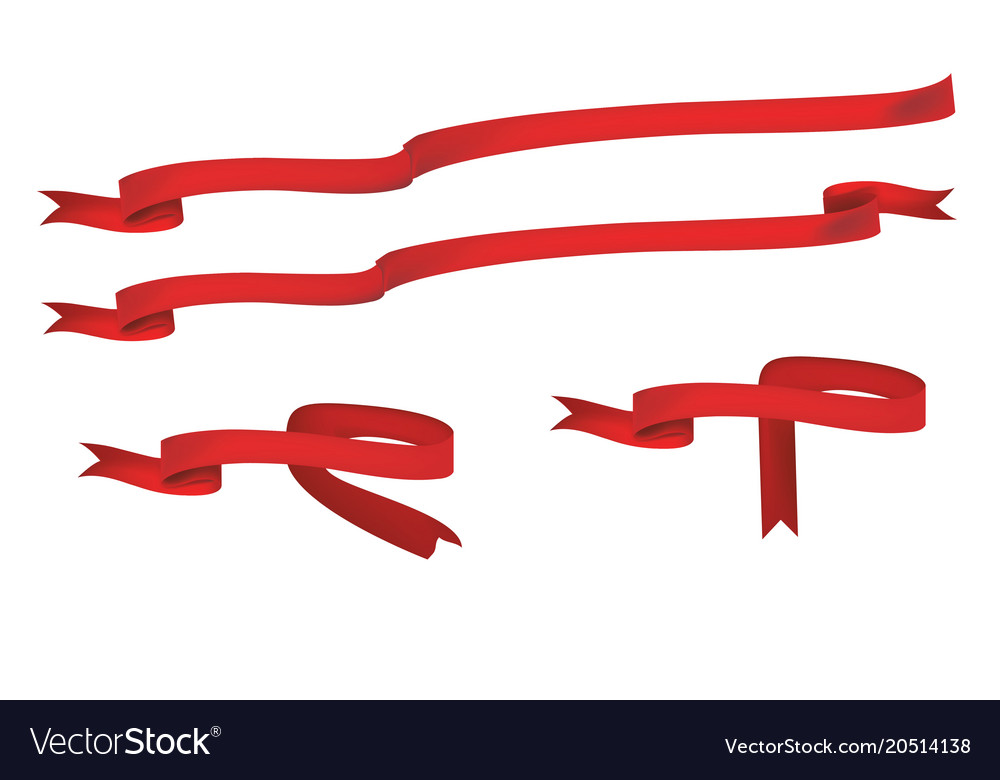 ribbons and banners for design royalty free vector image rh vectorstock com victor ribbons little league vector ribbons free