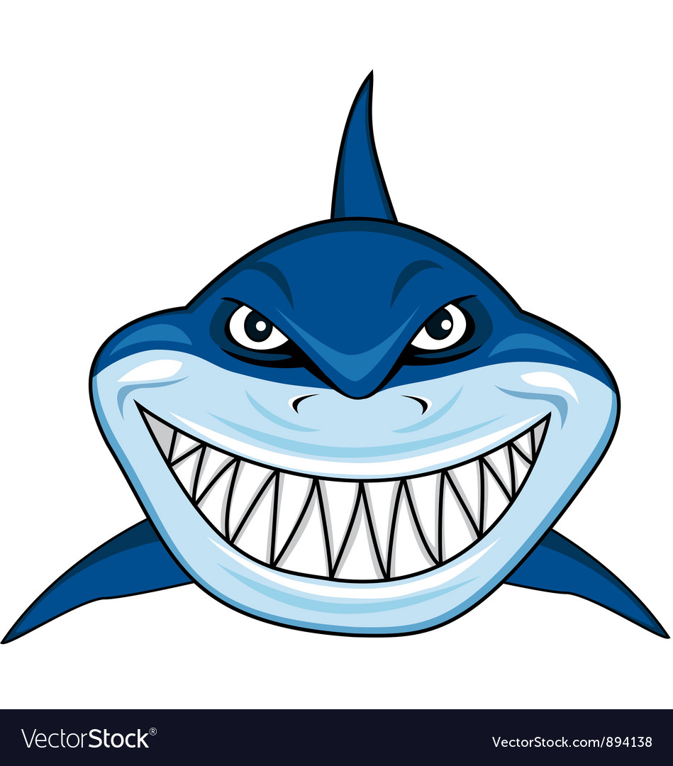 shark images cartoon  Smiling shark cartoon Royalty Free Vector Image