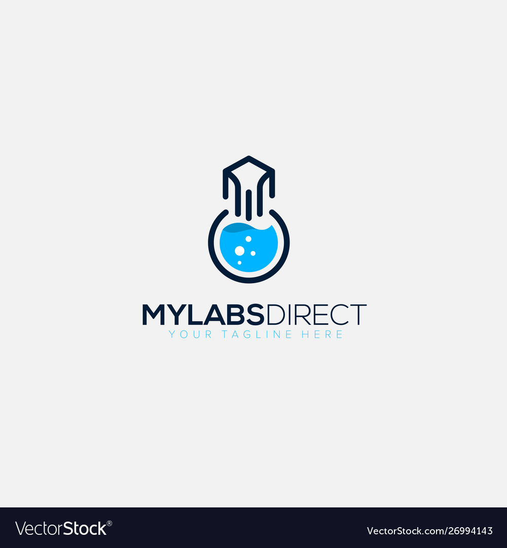 My labs direct email logo designs fast science vector image