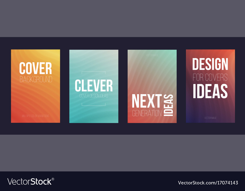 Set of 4 cover magazine template cover