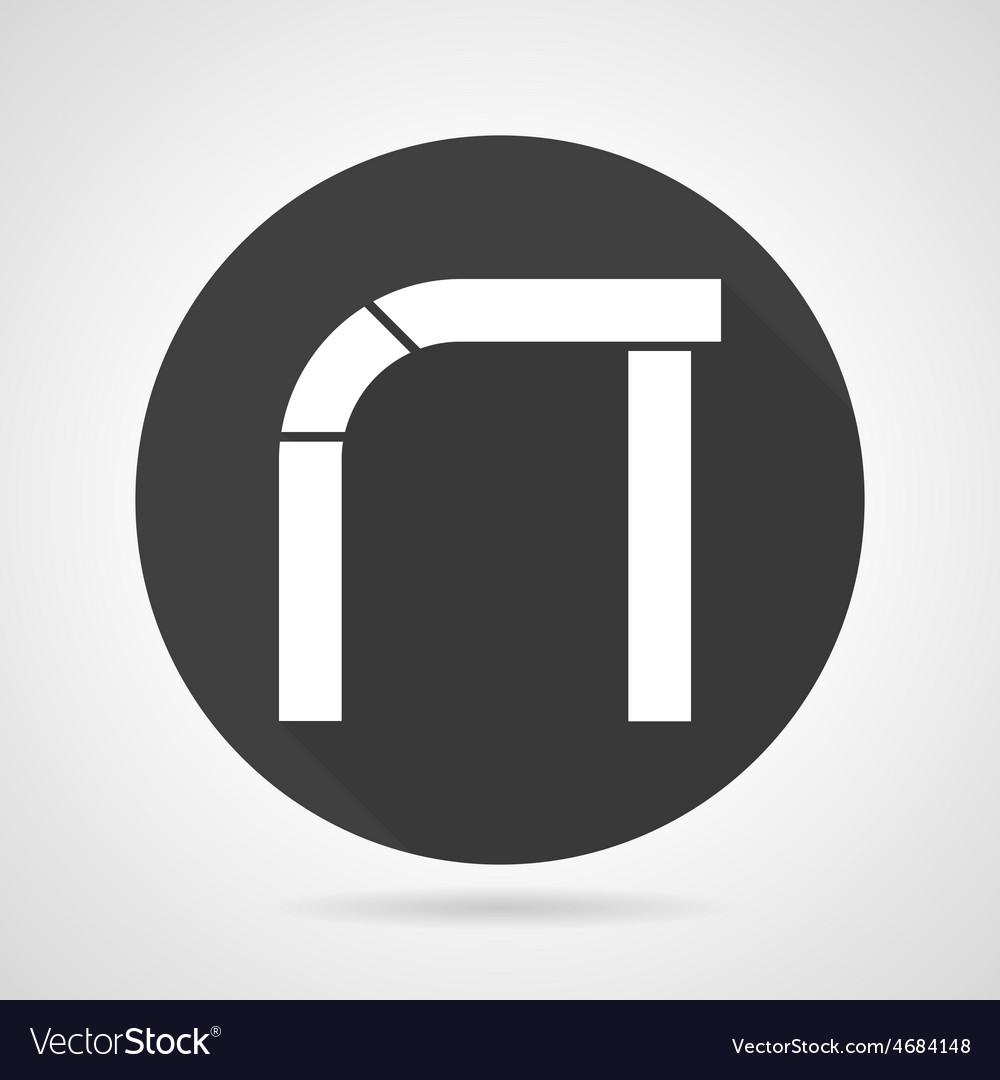 Asymmetric arch black round icon