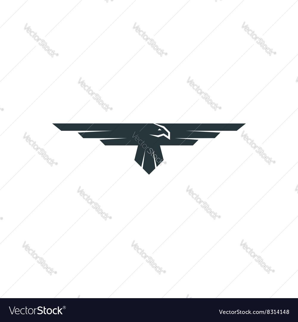 Eagle logo mockup predator bird wings silhouette vector image