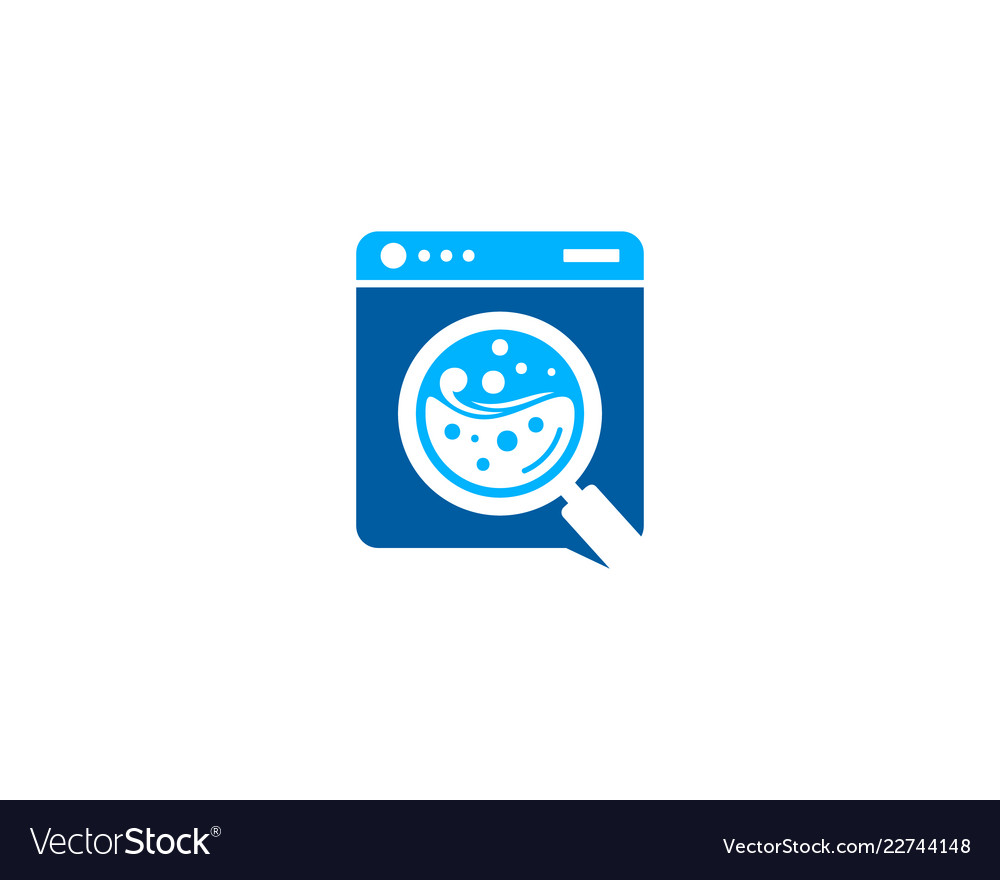 find laundry logo icon design royalty free vector image vectorstock