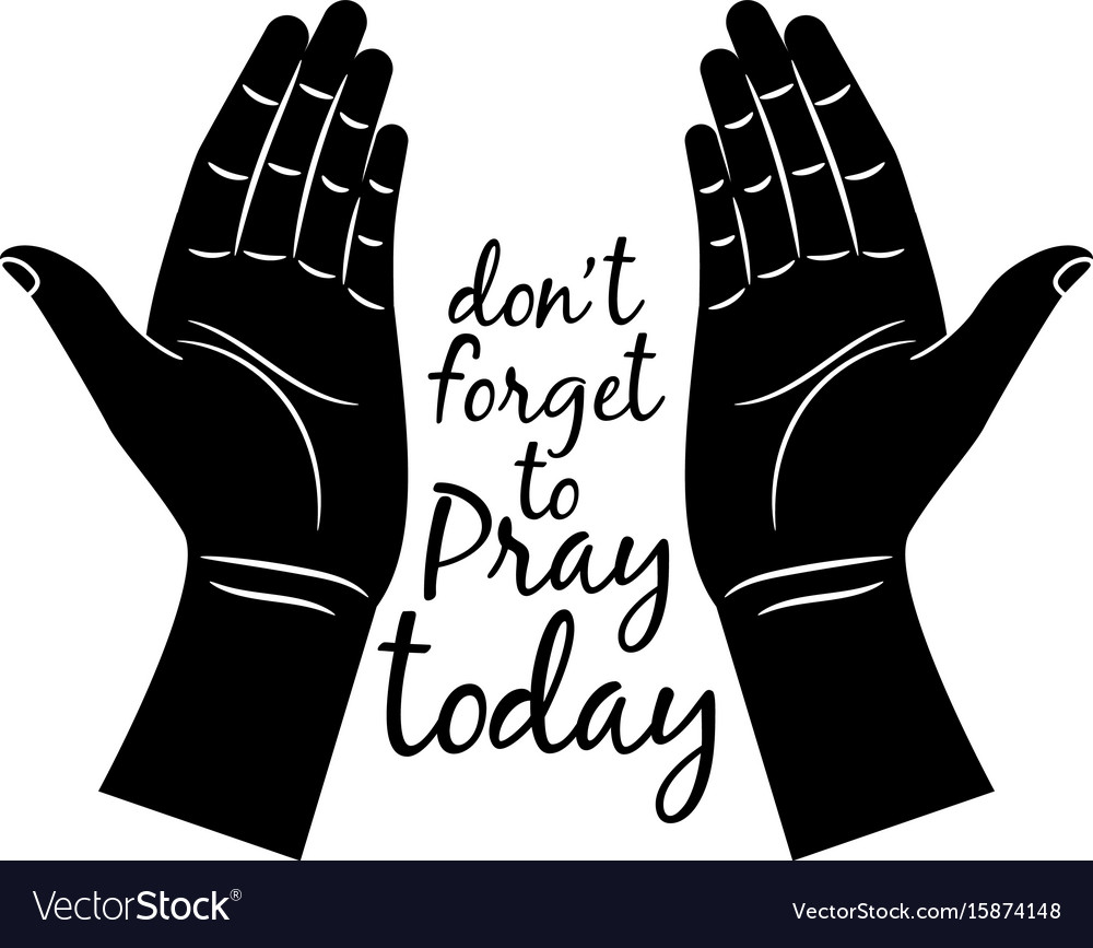 jesus praying hands silhouette royalty free vector image