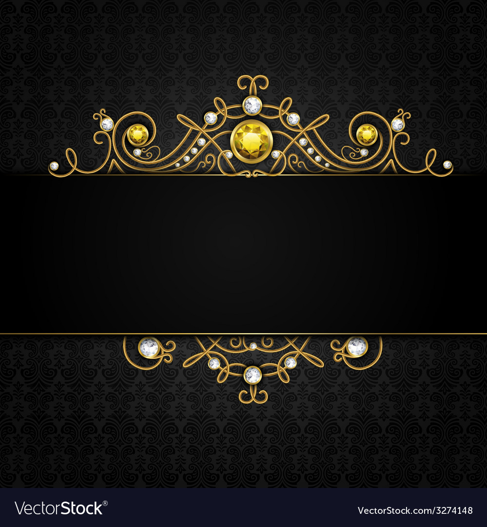 Jewellery black background Royalty Free Vector Image