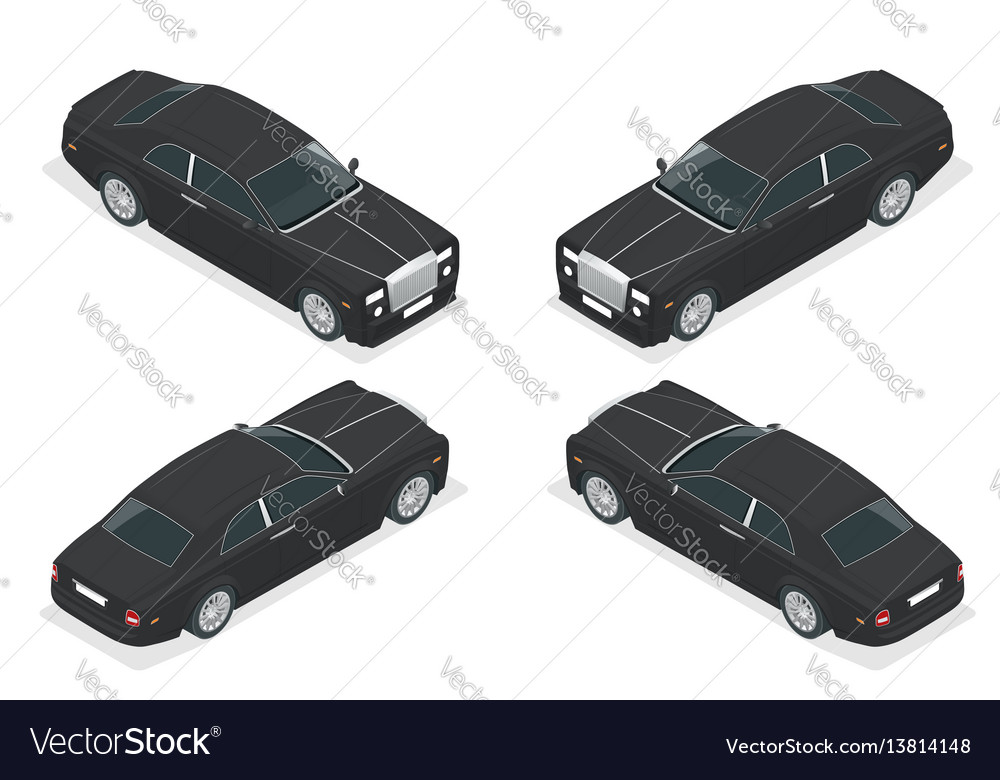 Luxury vip car isometric representing an