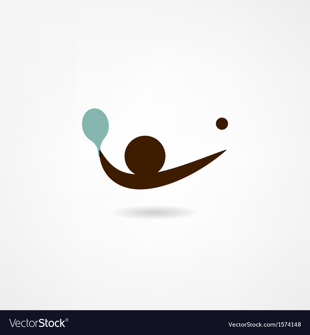 Ping-pong icon vector image