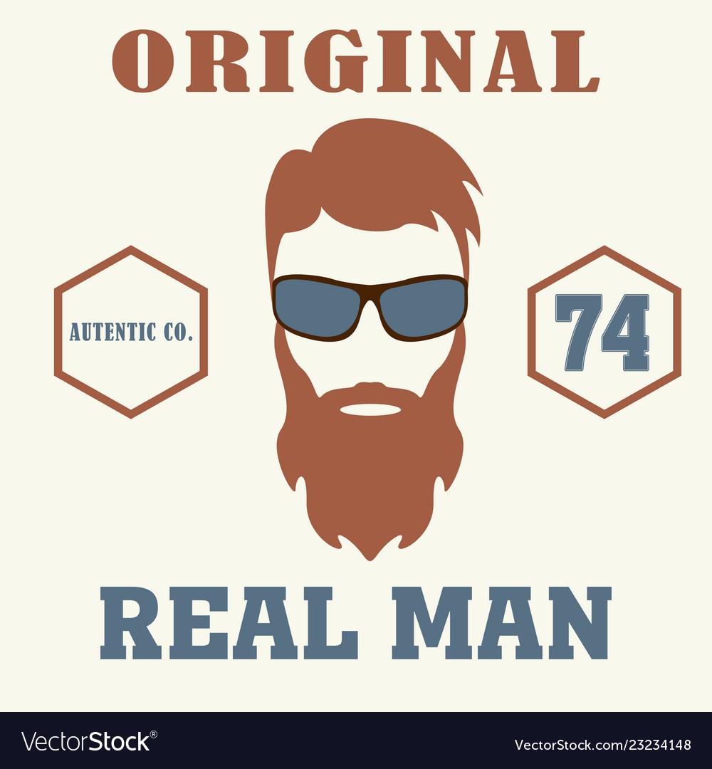 Real man t-shirt design icon barber