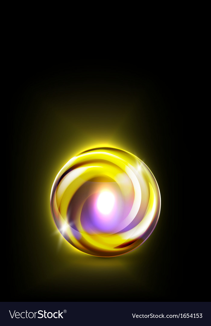 Abstract glowing ball for your design
