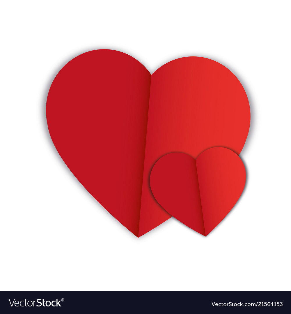 Abstract hearts shape love concept