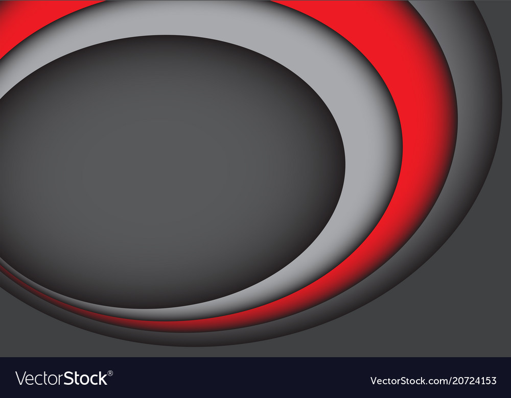 Abstract red gray curve overlab design