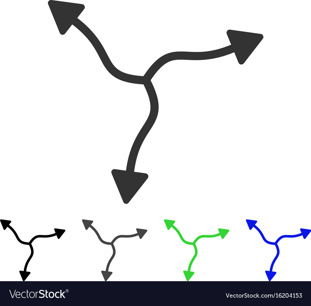 Curve arrows flat icon