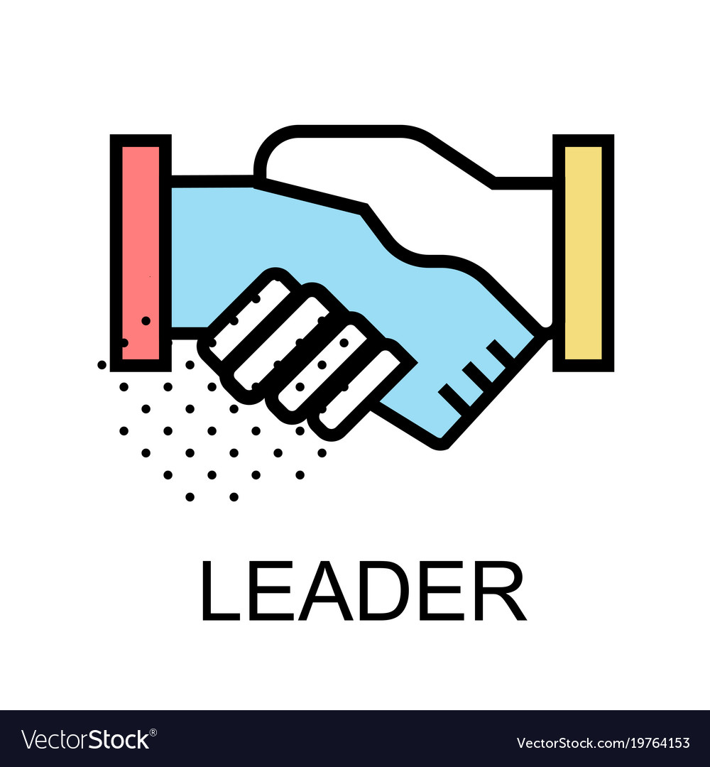 Handshake icon for leader design