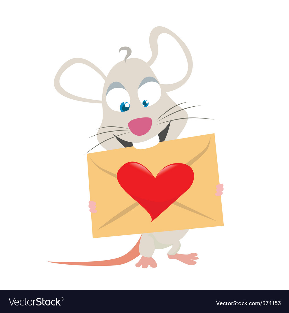 Mouse with love symbol