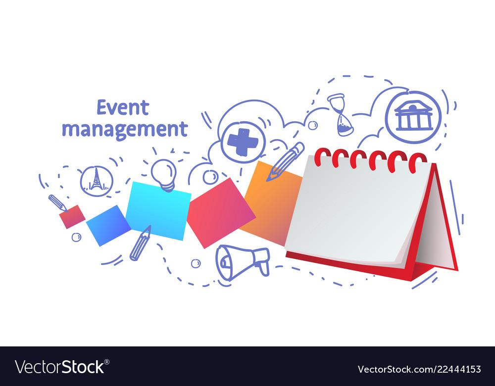 Notebook reminder icon agenda event management