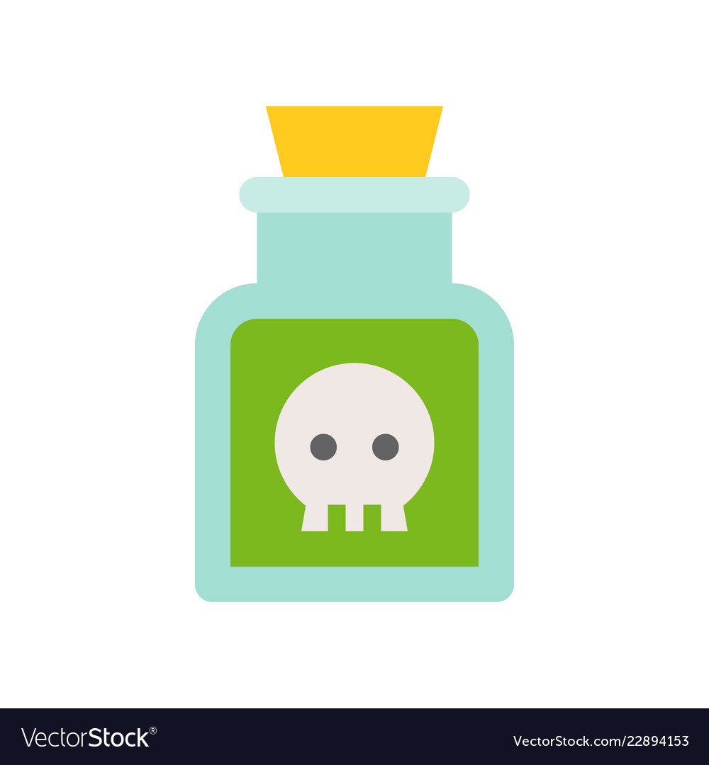 Poison in jar black magic halloween related icon