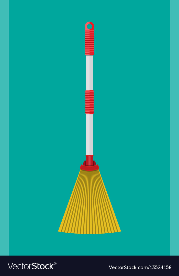 Broom with plastic handle household accessories