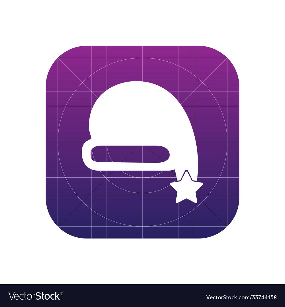 Christmas cap icon sign icon cap