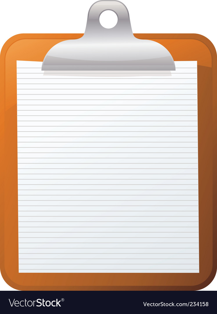 clipboard royalty free vector image vectorstock rh vectorstock com clipboard vector icon free clipboard vector icon