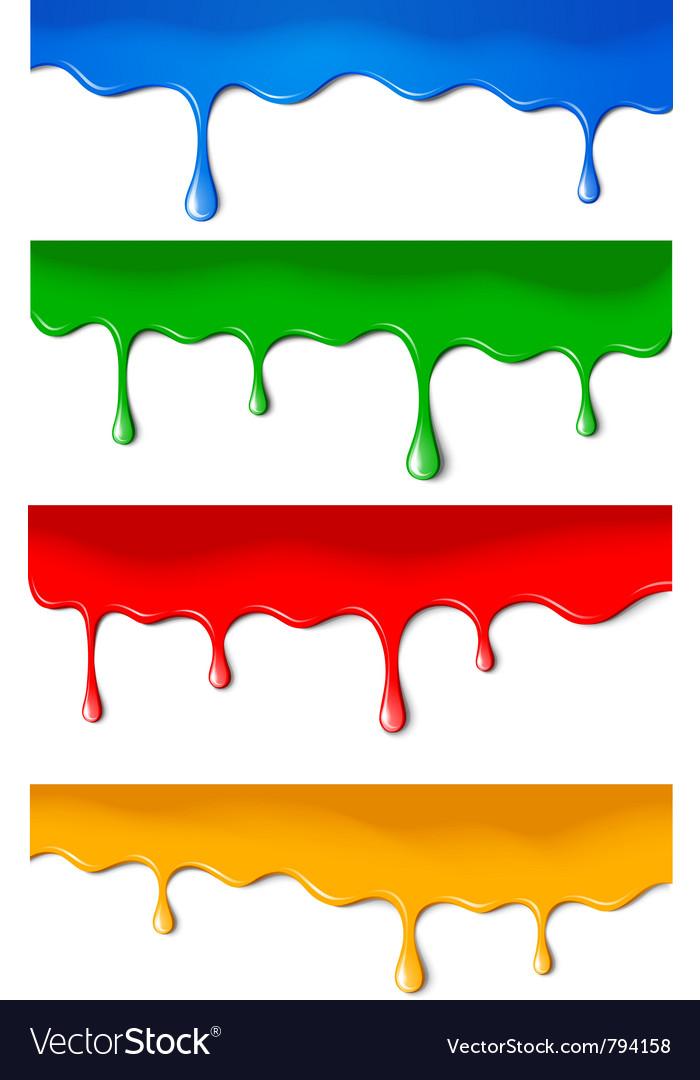 Color paints vector image