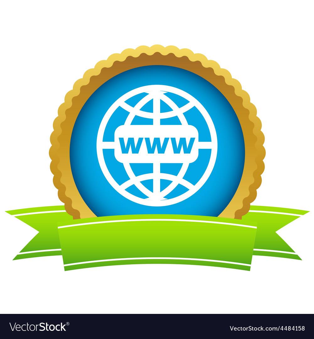 Gold www world logo