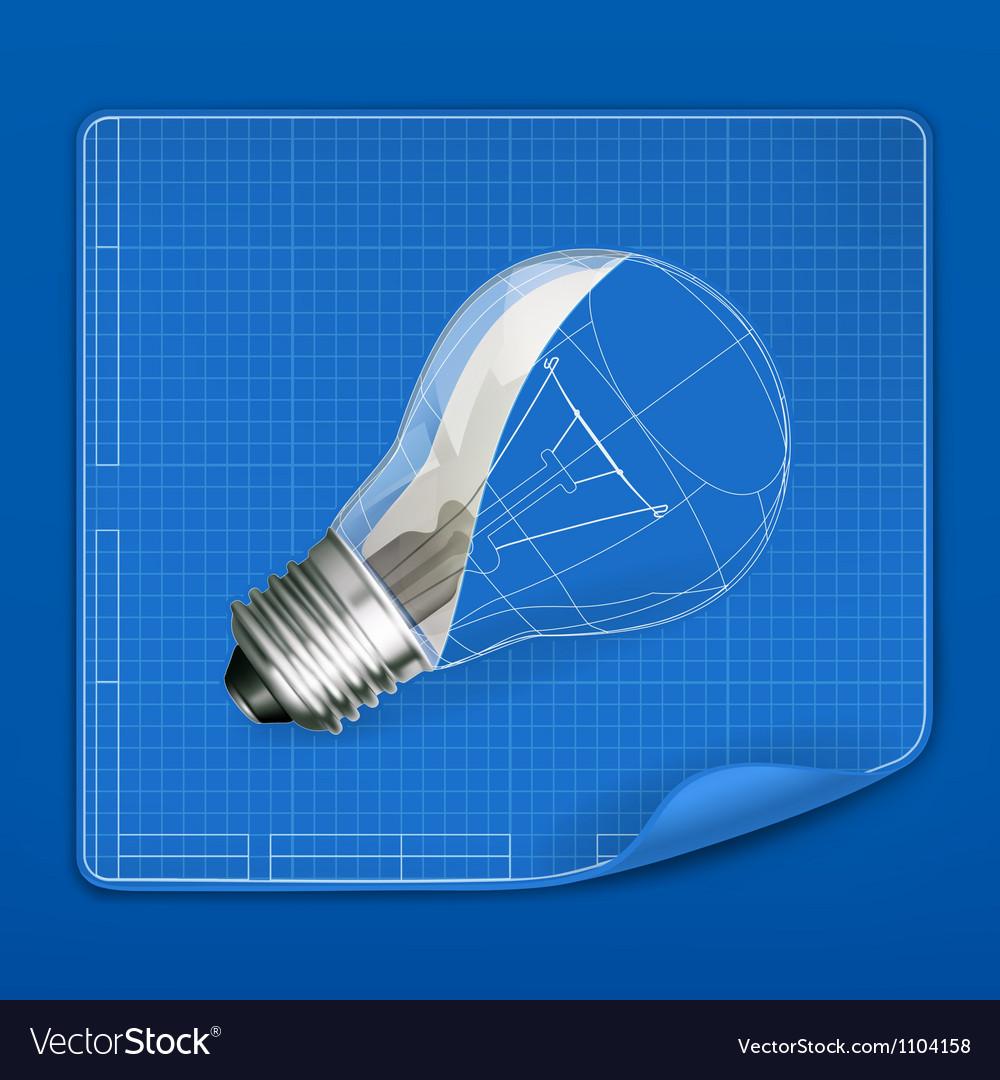 Lamp drawing blueprint