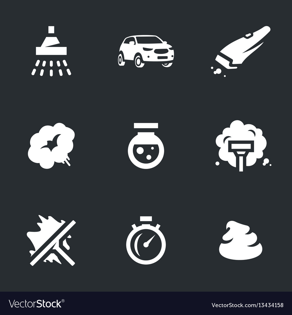 Set of carwash icons