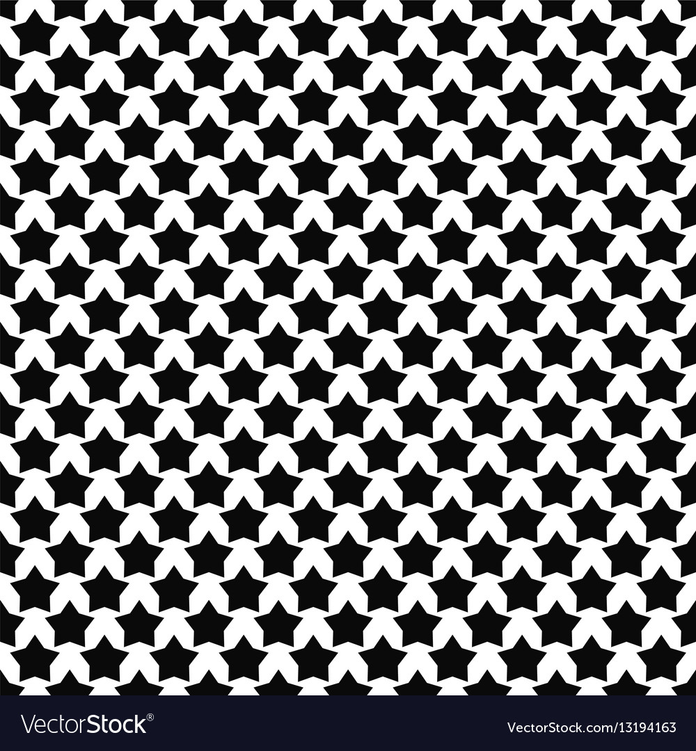 High Quality Black White Star Pattern Background Vector Image
