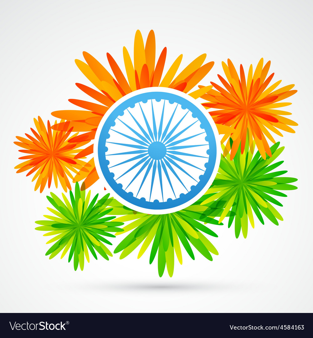 indian flower flag royalty free vector image vectorstock