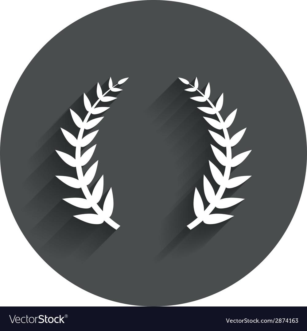 Laurel Wreath Sign Icon Triumph Symbol Royalty Free Vector