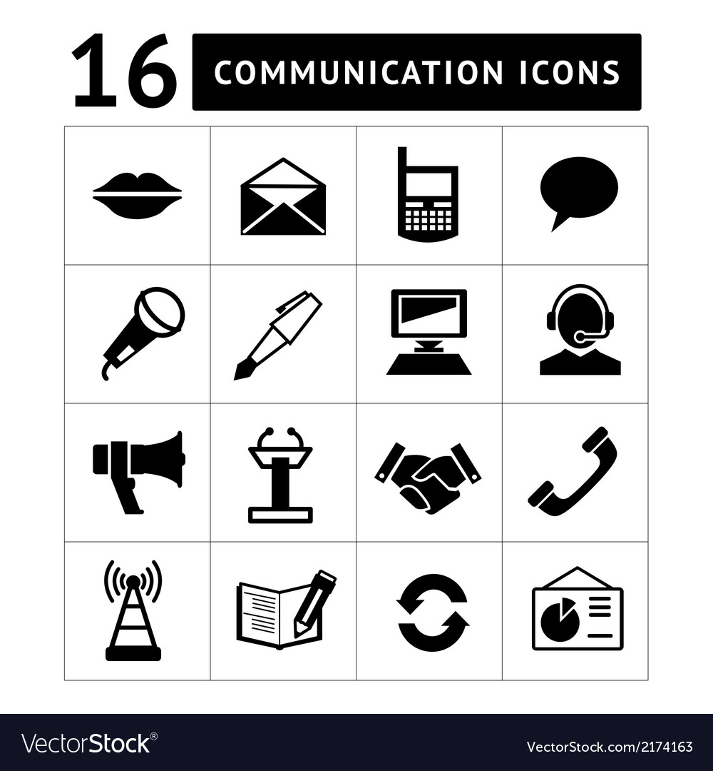 Set communication icons