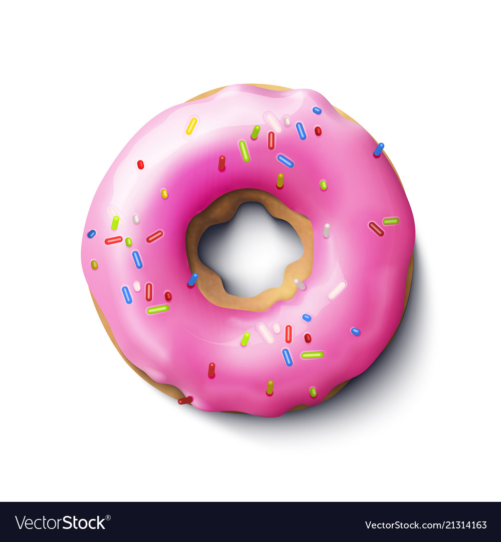 Stock realistic donut pink