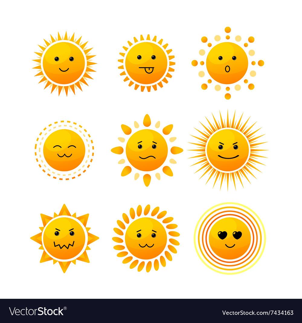 Sun Smile Icon Set
