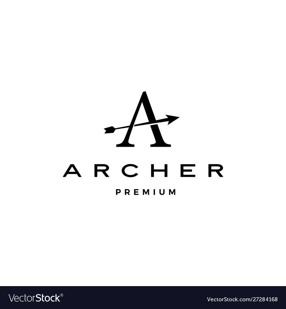 A letter archer arrow logo icon