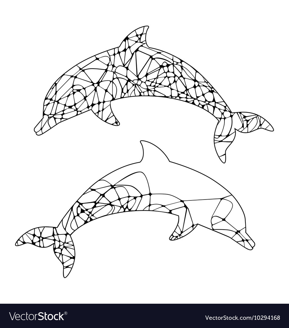Abstract outline of dolphin